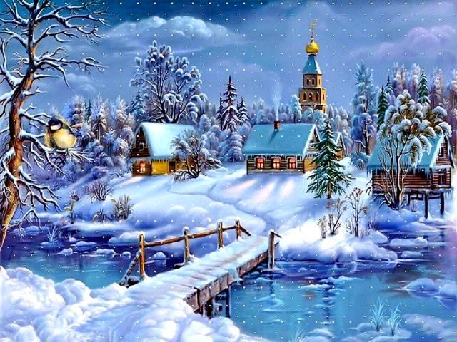 Christmas card winter landscape puzzles games puzzles games christmas card winter landscape christmas greeting card with lovely winter landscape christmas m4hsunfo