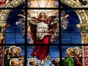Easter Sunday Resurrection of Jesus Stained Glass German Church Stockholm Sweden