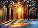 Morning Sun of January by Leonid Afremov