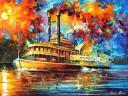 Steamboat by Leonid Afremov
