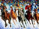 Winter Race on the Snow by Leonid Afremov