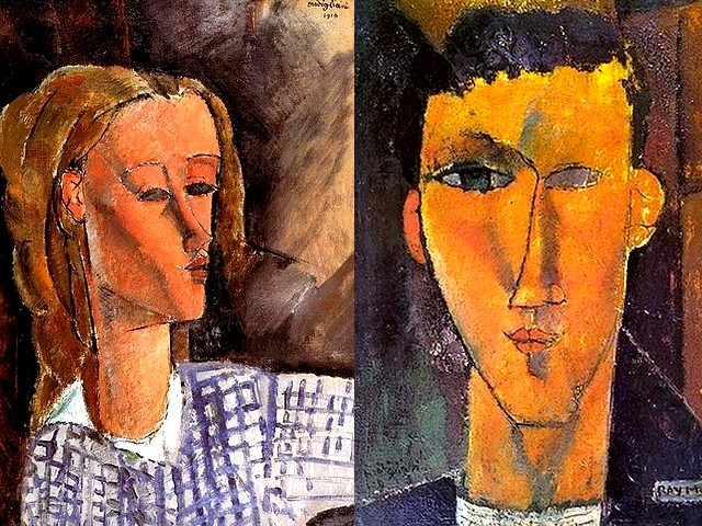 Amadeo Modigliani Portrait of Beatrice Hastings and Portrait of Raymond Radiguet - Two works by Amadeo Modigliani - 'Portrait of Beatrice Hastings' (1916, oil on canvas, private collection), a talented and eccentric English woman, a circus artist, journalist, poetess, traveler, art critic, mistress and a preferred model of Modigliani, and 'Portrait of Raymond Radiguet' (1915, oil on canvas, private collection), a French author (1903-1923) associated with the Modernist set, friend of Picasso, Max Jacob, Jean Hugo, Juan Gris and especially of Jean Cocteau, who became his mentor. - , Amadeo, Modigliani, portrait, portraits, Beatrice, Hastings, Raymond, Radiguet, art, arts, painter, painters, artist, artists, sculptor, sculptors, Expressionist, Expressionists, works, work, 1916, oil, canvas, canvases, private, collection, collections, talented, eccentric, English, woman, women, circus, journalist, journalists, poetess, poets, traveler, travelers, critic, critics, mistress, mistresses, preferred, model, models, 1915, French, author, autors, Modernist, set, sets, friend, friends, Picasso, Max, Jacob, Jean, Hugo, Juan, Gris, especially, Cocteau, mentor, mentors - Two works by Amadeo Modigliani - 'Portrait of Beatrice Hastings' (1916, oil on canvas, private collection), a talented and eccentric English woman, a circus artist, journalist, poetess, traveler, art critic, mistress and a preferred model of Modigliani, and 'Portrait of Raymond Radiguet' (1915, oil on canvas, private collection), a French author (1903-1923) associated with the Modernist set, friend of Picasso, Max Jacob, Jean Hugo, Juan Gris and especially of Jean Cocteau, who became his mentor. Solve free online Amadeo Modigliani Portrait of Beatrice Hastings and Portrait of Raymond Radiguet puzzle games or send Amadeo Modigliani Portrait of Beatrice Hastings and Portrait of Raymond Radiguet puzzle game greeting ecards  from puzzles-games.eu.. Amadeo Modigliani Portrait of Beatrice Hastings and Portrait of Raymond Radiguet puzzle, puzzles, puzzles games, puzzles-games.eu, puzzle games, online puzzle games, free puzzle games, free online puzzle games, Amadeo Modigliani Portrait of Beatrice Hastings and Portrait of Raymond Radiguet free puzzle game, Amadeo Modigliani Portrait of Beatrice Hastings and Portrait of Raymond Radiguet online puzzle game, jigsaw puzzles, Amadeo Modigliani Portrait of Beatrice Hastings and Portrait of Raymond Radiguet jigsaw puzzle, jigsaw puzzle games, jigsaw puzzles games, Amadeo Modigliani Portrait of Beatrice Hastings and Portrait of Raymond Radiguet puzzle game ecard, puzzles games ecards, Amadeo Modigliani Portrait of Beatrice Hastings and Portrait of Raymond Radiguet puzzle game greeting ecard