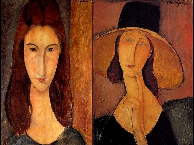 Amedeo Modigliani Portrait of Jeanne Hebuterne and Portrait of Woman in a Hat - 'Portrait of Jeanne Hebuterne' (1917, oil on canvas) and 'Portrait of Woman in a Hat' ('Jeanne Hebuterne in a Large Hat', 1919,  private collection), a portrait with a big straw hat, a one of the most beautiful of the sixteen portraits Amedeo Modigliani has painted of her. Jeanne Hebuterne was a 19-year-old student of the Academie Colarossi when she met Modigliani in April of 1917. Since then they started to live together and she became his major model. - , Amedeo, Modigliani, portrait, portraits, Jeanne, Hebuterne, woman, women, hat, hats, art, arts, painter, painters, artist, artists, sculptor, sculptors, Expressionist, Expressionists, large, 1917, oil, oils, canvas, private, collections, collection, straw, beautiful, student, students, Academie, Colarossi, major, model, models - 'Portrait of Jeanne Hebuterne' (1917, oil on canvas) and 'Portrait of Woman in a Hat' ('Jeanne Hebuterne in a Large Hat', 1919,  private collection), a portrait with a big straw hat, a one of the most beautiful of the sixteen portraits Amedeo Modigliani has painted of her. Jeanne Hebuterne was a 19-year-old student of the Academie Colarossi when she met Modigliani in April of 1917. Since then they started to live together and she became his major model. Solve free online Amedeo Modigliani Portrait of Jeanne Hebuterne and Portrait of Woman in a Hat puzzle games or send Amedeo Modigliani Portrait of Jeanne Hebuterne and Portrait of Woman in a Hat puzzle game greeting ecards  from puzzles-games.eu.. Amedeo Modigliani Portrait of Jeanne Hebuterne and Portrait of Woman in a Hat puzzle, puzzles, puzzles games, puzzles-games.eu, puzzle games, online puzzle games, free puzzle games, free online puzzle games, Amedeo Modigliani Portrait of Jeanne Hebuterne and Portrait of Woman in a Hat free puzzle game, Amedeo Modigliani Portrait of Jeanne Hebuterne and Portrait of Woman in a Hat online puzzle game, jigsaw puzzles, Amedeo Modigliani Portrait of Jeanne Hebuterne and Portrait of Woman in a Hat jigsaw puzzle, jigsaw puzzle games, jigsaw puzzles games, Amedeo Modigliani Portrait of Jeanne Hebuterne and Portrait of Woman in a Hat puzzle game ecard, puzzles games ecards, Amedeo Modigliani Portrait of Jeanne Hebuterne and Portrait of Woman in a Hat puzzle game greeting ecard