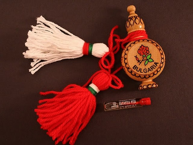 Bulgarian Martenitsa and Rose Oil Souvenir - Traditional Bulgarian martenitsa, a decoration from the folk art, made of red and white threads and carved wooden souvenir for a vial with Bulgarian rose oil. The 'Martenitsa' is related to the Bulgarian custom 'Baba Marta' (Grandma March) and symbolises the end of the winter and the beginning of the spring. Bulgarians give each other 'Martenitsa' on the first day of March with the belief that it brings good luck and health. - , Bulgarian, martenitsa, martenitsi, rose, roses, oil, oils, souvenir, souvenirs, holiday, holidays, art, arts, feast, feasts, traditional, decoration, decorations, folk, red, white, threads, thread, carved, wooden, vial, vials, custom, customs, Baba, Marta, Grandma, March, end, ends, winter, beginning, spring, Bulgarians, first, day, days, belief, beliefs, good, luck, health - Traditional Bulgarian martenitsa, a decoration from the folk art, made of red and white threads and carved wooden souvenir for a vial with Bulgarian rose oil. The 'Martenitsa' is related to the Bulgarian custom 'Baba Marta' (Grandma March) and symbolises the end of the winter and the beginning of the spring. Bulgarians give each other 'Martenitsa' on the first day of March with the belief that it brings good luck and health. Solve free online Bulgarian Martenitsa and Rose Oil Souvenir puzzle games or send Bulgarian Martenitsa and Rose Oil Souvenir puzzle game greeting ecards  from puzzles-games.eu.. Bulgarian Martenitsa and Rose Oil Souvenir puzzle, puzzles, puzzles games, puzzles-games.eu, puzzle games, online puzzle games, free puzzle games, free online puzzle games, Bulgarian Martenitsa and Rose Oil Souvenir free puzzle game, Bulgarian Martenitsa and Rose Oil Souvenir online puzzle game, jigsaw puzzles, Bulgarian Martenitsa and Rose Oil Souvenir jigsaw puzzle, jigsaw puzzle games, jigsaw puzzles games, Bulgarian Martenitsa and Rose Oil Souvenir puzzle game ecard, puzzles games ecards, Bulgarian Martenitsa and Rose Oil Souvenir puzzle game greeting ecard