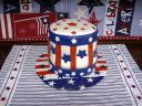 4th of July Cake Uncle Sam Hat